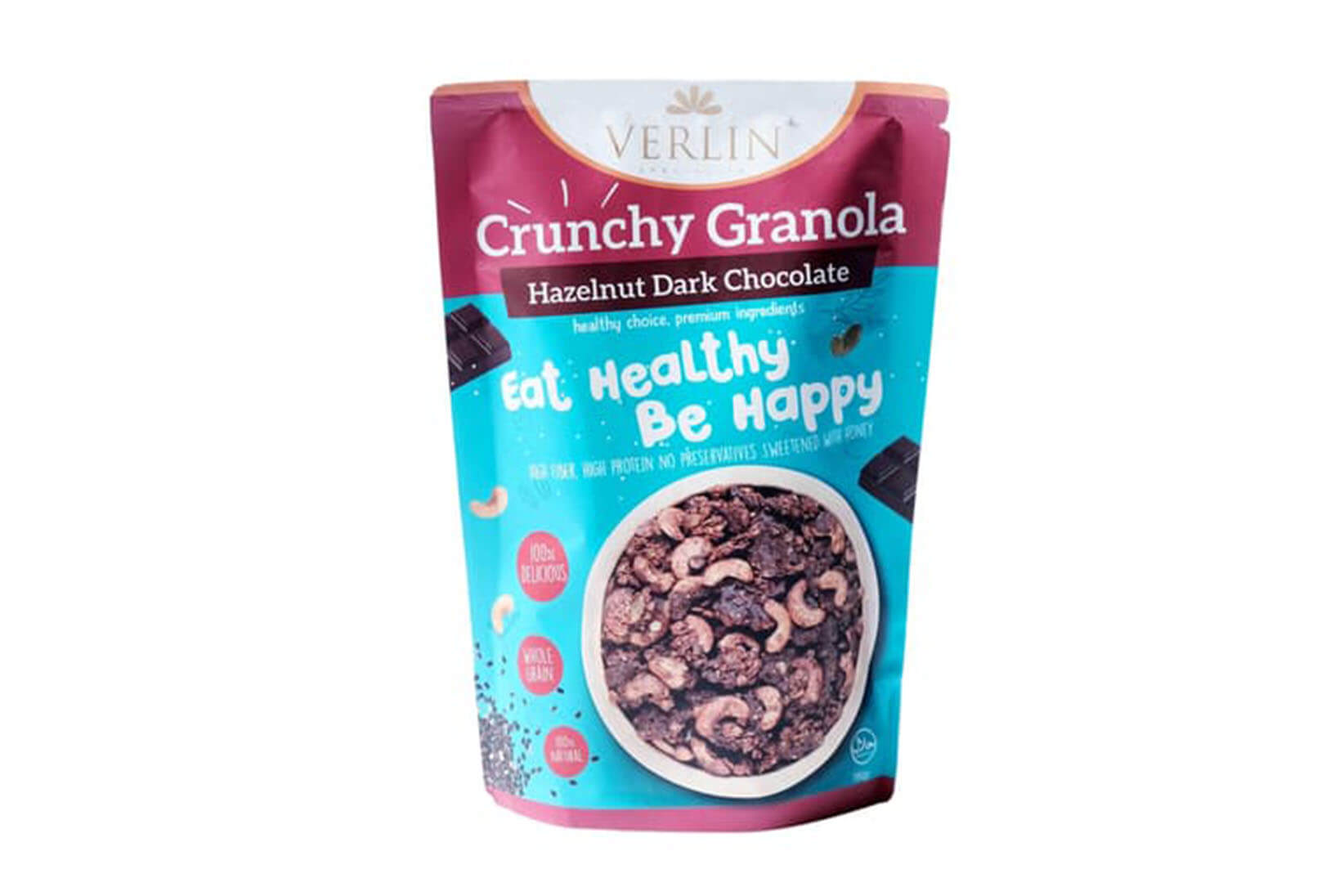 Crunchy Granola Hazelnut Dark Chocolate Verlin
