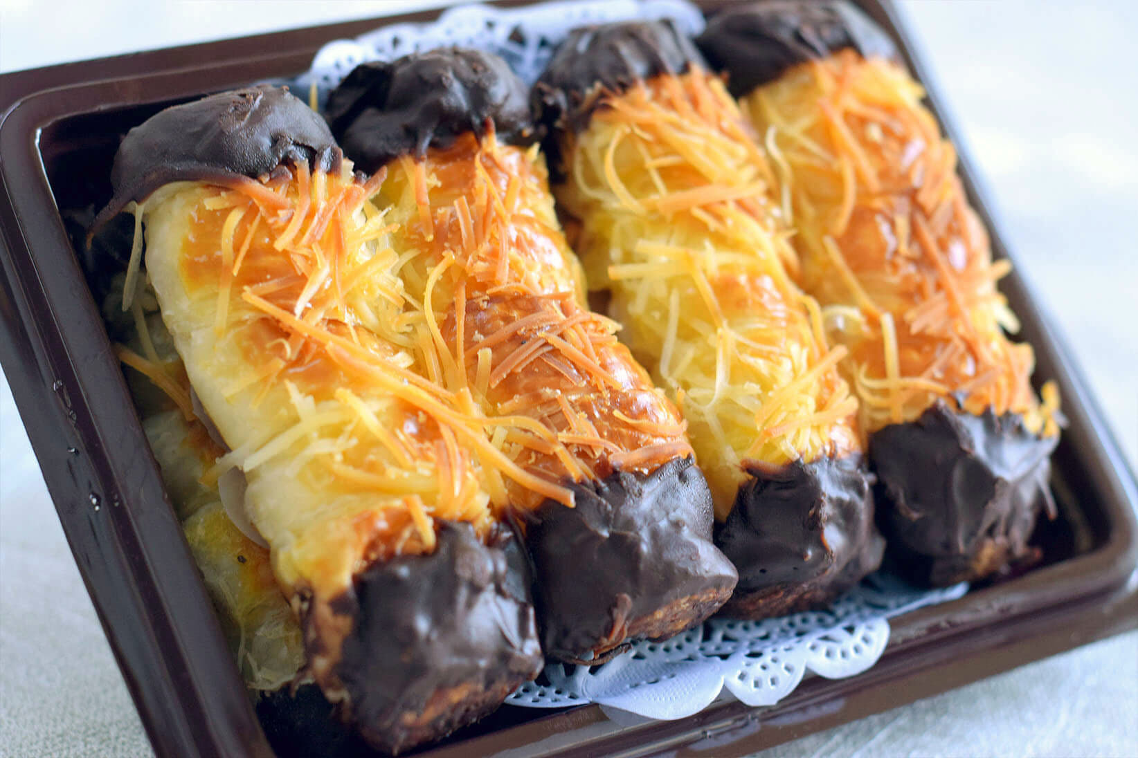 Choco cheese roll pastry